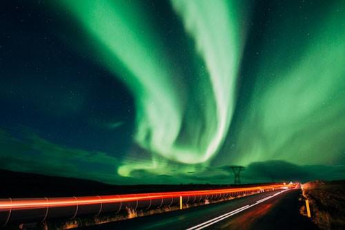 تماشای شفق قطبی در روسیه